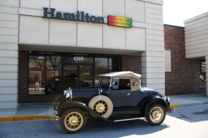 Hamilton Color Lab with Customers Model A Ford